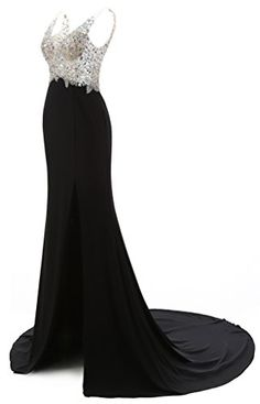 Sweety Bridal Women's Prom Dress Mermaid Full Beaded Black Tulle Evening Dress  Dear friend,when you order this dress,please check out this size chart carefully on the left,it's very important for us,and it is US size,we have bust,waist,hips,height ect…,so please read it carefully,thanks again. This dress is made use high quality lace,it's very comfortable and beautiful,and the price is very cheap. The processing time usually needs about 7-10 working days and the shipping time usuall..