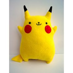 Pokemon Pikachu -- Fat, Cute, Chubby Stuffed Animal Plush ($60) ❤ liked on Polyvore featuring pokemon, toys, plushies, stuffed animals and accessories