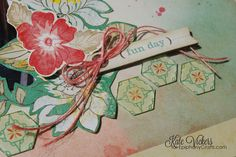 Layout made with the #epiphanycrafts Shape Studio Tool Hexagon.  www.epiphanycrafts.com #scrapbook #cratepaper