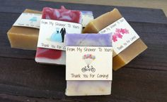 """Bridal Shower Soap Favors! """"From My Shower To Yours"""" A unique and adorable…"""