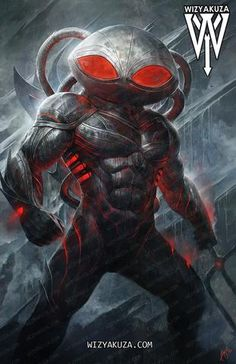 Black Manta by wizyakuza Superhero Characters, Comic Book Characters, Comic Character, Comic Books Art, Comic Art, Aquaman Dc Comics, Dc Comics Art, Marvel Vs, Marvel Dc Comics