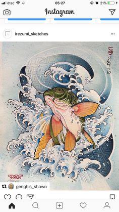 鱼 Pink Things wagon r pink color Carp Tattoo, Koi Fish Tattoo, Tattoo Ink, Japan Tattoo Design, Wolf Tattoo Design, Koi Art, Fish Art, Frog Tattoos, Circle Tattoos