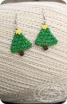 Christmas tree earrings by Divine Debris