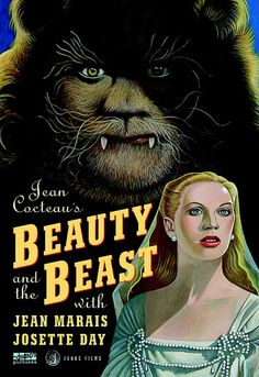 (1946) dir. by Jean Cocteau.  Sublime adaptation of Mme. Leprince de Beaumont's fairy-tale masterpiece—in which the pure love of a beautiful girl melts the heart of a feral but gentle beast—is a landmark of motion picture fantasy, with unforgettably romantic performances by Jean Marais and Josette Day. The spectacular visions of enchantment, desire, and death in Beauty and the Beast (La Belle et la Bête) have become timeless icons of cinematic wonder.