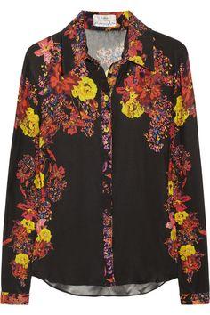 Erdem Cecilia floral-print silk shirt NET-A-PORTER.COM