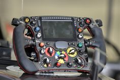 Sauber's 2014 steering wheel - Wow that's a lot more switches, notice break balance now controlled on the wheel. (i.imgur.com)