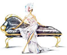 Claire Ashley ( Claire Thompson )  #watercolor #fashion #illustration