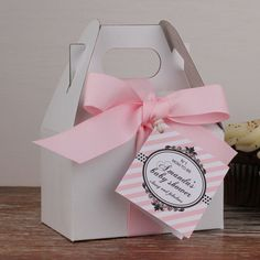 12  Personalized Mini Gable Boxes  Designer Baby by thefavorbox