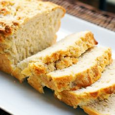 Beer bread - my favorite food to make for football games! I like to use Sams Winter Ale, and accompany the bread with an herbed garlic butter that I make. YUM!