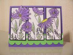 In Full Bloom, Garden Windows Card using Stampin' Up! In Full Bloom