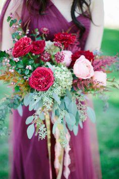 Garden rose, hydrangea and eucalyptus wedding bouquet: http://www.stylemepretty.com/wisconsin-weddings/2017/04/12/autumn-lakeside-wedding/ Photography: Kristina Lorraine - http://kristinalorraine.com/