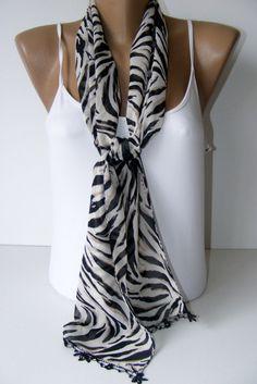 women chiffon scarf women fashion scarves black with lace by seno, $15.00