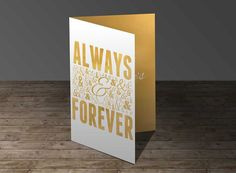 Always & Forever Greeting Card. Wedding Fonts