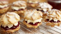 Viennese Whirls - these delicious biscuits are buttery and light. Don't worry if you're not an expert at piping, they'll still look brilliant once they are baked. Baking Recipes, Cookie Recipes, Dessert Recipes, Bbc Recipes, Recipes Dinner, Bbc Good Food Recipes, Biscuit Cookies, Biscuit Recipe, Cookie Dough