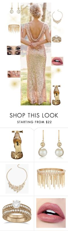 """""""Bella Blackthorn-Wedding Outfit #3"""" by msmarvel70 ❤ liked on Polyvore featuring Dolce&Gabbana, Effy Jewelry, Talbots, Jenny Packham and Allurez"""