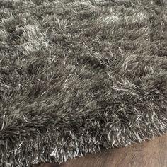 Shop Safavieh Paris Shag Danara Glamour Solid Polyester Rug - On Sale - Overstock - 6568387