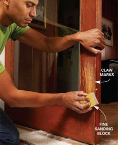 How to easily repair pet claw marks / wood scratches
