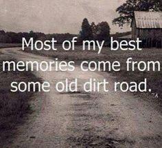 .... down a dirt road.