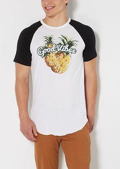 Good Vibes Pineapple Long Length Tee | rue21