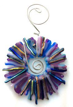 STAR BURST CIRCLE Ornament Suncatcher by SherylRivera on Etsy