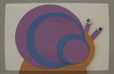 SO simple snail toddler craft - to promote understanding of colors and develop fine motor skills. So fun and easy to put together. Animal Crafts For Kids, Craft Activities For Kids, Toddler Activities, Art For Kids, Craft Ideas, Toddler Preschool, Toddler Crafts, Preschool Crafts, Preschool Colors