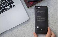 Notícia: Capinha transforma traseira de iPhones em segunda tela