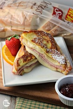 This tasty cheesy Monte Cristo Style Grilled Cheese Sandwich  made with new Sara Lee® Artesano™ Bread is the perfect choice for a satisfy...