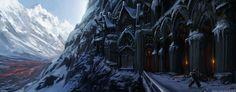 """ environment 4"" by CxArtist    http://fc09.deviantart.net/fs70/i/2012/177/3/d/ice_fortress_concept_by_josheiten-d5507xu.png"