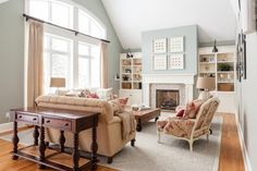 traditional family room by Becki Peckham