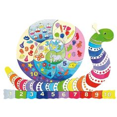 """""""The Wentsnail (45 pieces)"""" - Great for helping young children learn the alphabet and fun too!"""