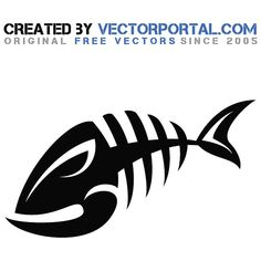 Fish bone royalty free clip art - Free vector image in AI and EPS format. Metal Fish, Wood Fish, Tribal Animal Tattoos, Fish Art, Fish Fish, Cool Small Tattoos, Fishing Pictures, Stencil Templates, Welding Art