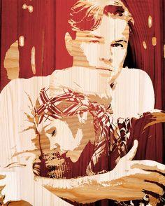 The Great Gatsby (2013)   Leonardo DiCaprio (Gatsby) and Carey Mulligan (Daisy Buchanan) Woodboard-ed.