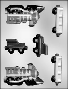 CK Products 4-1/2-Inch 3-D Train Engine and Railcars Chocolate Mold ** Don't get left behind, see this great product : baking essentials