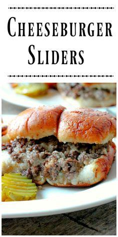 Cheeseburger Sliders via @https://www.pinterest.com/BunnysWarmOven/bunnys-warm-oven/