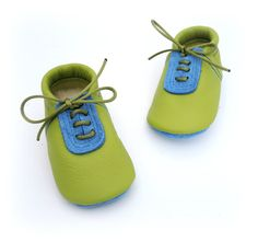 Handmade leather shoes for babies toddlers and by PiciPapucs, $36.00