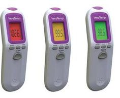 VeraTemp Non-Contact Thermometer - Vera Temp lets you take your child's temperature without any physical contact. Just point, click and, presto, Vera Temp gives you an accurate and consistent reading. But it doesn't stop there. The Vera Temp also has settings for room and surface temperatures, so you can check the bath water, the nursery, your coffee...the mind reels with possibilities!