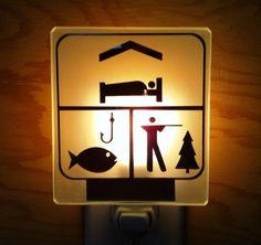 Sport & Rest Nightlight / Veilleuse Station Sport by Vertigeglass Man Room, River House, Sport, Night Light, Plein Air, Coin, My Love, Hunting, Fishing