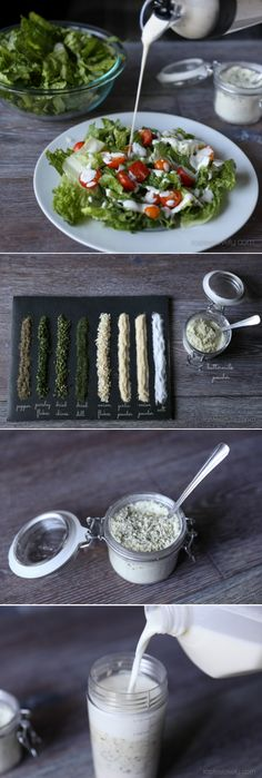 Homemade ranch dressing mix from scratch, use to make the BEST restaurant style ranch dressing