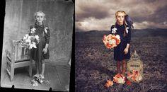 """""""Corvo""""   Fotógrafa transforma fotos antigas em trabalhos de arte surreais"""
