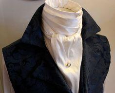 Possible groomsmen ties.Extra LONG  REGENCY Brummel Victorian Ascot Tie by elegantascot. , via Etsy.