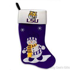 NEW Personalized LSU Louisiana State University Tigers NCAA Christmas Stocking