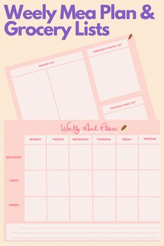 Print out this template to plan for your weekly meals! Doing meal prep is key to make sure you're eating healthy and making the best use of your money and time. It requires a few minutes per day to save lots of your time and money! List Template, Templates, Diet Club, Weekly Meals, Breakfast Lunch Dinner, Meal Prep For The Week, Grocery Lists, Plant Based Diet, Eating Healthy