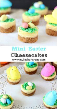 Mini Easter Cheesecakes #easter #cheesecake #dessert
