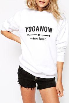 Letter Pattern White Sweatshirt