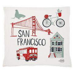 San Francisco Tea Towel by claudiagpearson on Etsy
