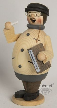 Happy Max the Teacher German Wooden Christmas Incense Smoker Made in Germany