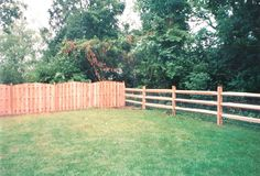 Wood Privacy & Split Rail Fence