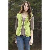 Universal Yarn Spring Leaves Vest (Free)