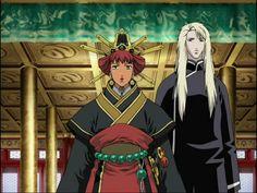 陽子 Youko、景麒 Keiki:十二国記 Juuni Kokki/Twelve Kingdoms - anime -戴冠式 coronation