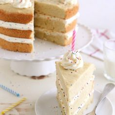 Sugar Cookie Layer Cake   completelydelicious.com